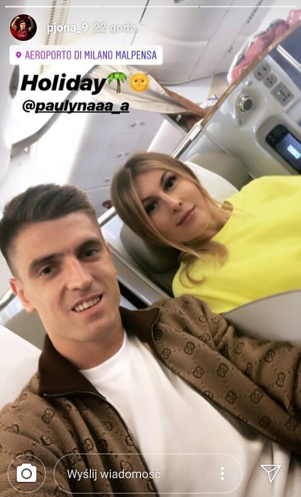 Krzysztof Piątek wraz z żoną udał się na wypoczynek do USA /Instagram /