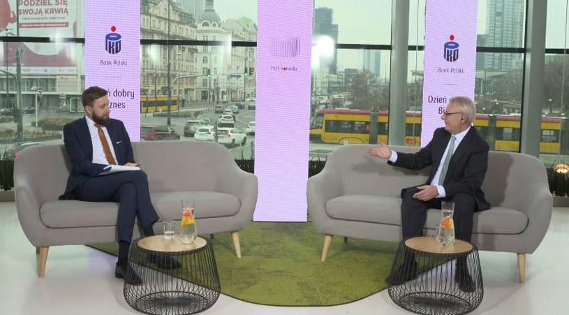 Krzysztof Pilarczyk, partner zarządzający w Today's Business Learning podczas rozmowy z Bartoszem Bednarzem, dziennikarzem Interii /materiały prasowe