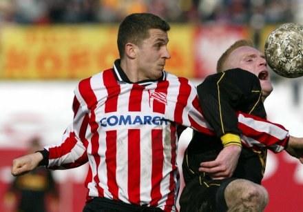 Krzysztof Piszczek (z lewej) w barwach Cracovii/fot. Tomasz Markowski /Agencja Przegląd Sportowy