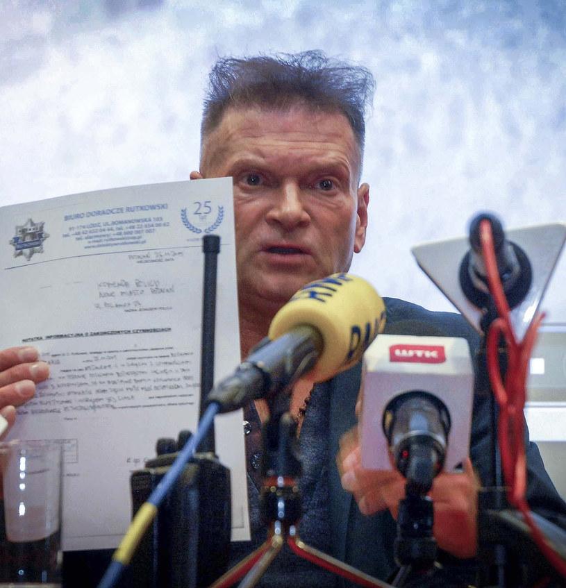 Krzysztof Rutkowski na konferencji w sprawie zaginięcia Ewy Tylman /Przemysław Graf /Reporter