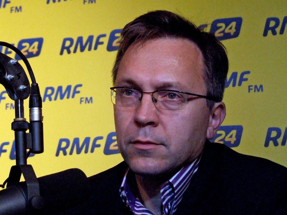Krzysztof Rybiński w warszawskim studiu RMF FM.  /Fot. Olga Wasilewska /RMF FM