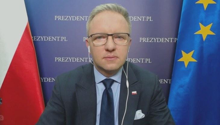 """Krzysztof Szczerski w """"Gościu Wydarzeń"""" /Polsat News"""