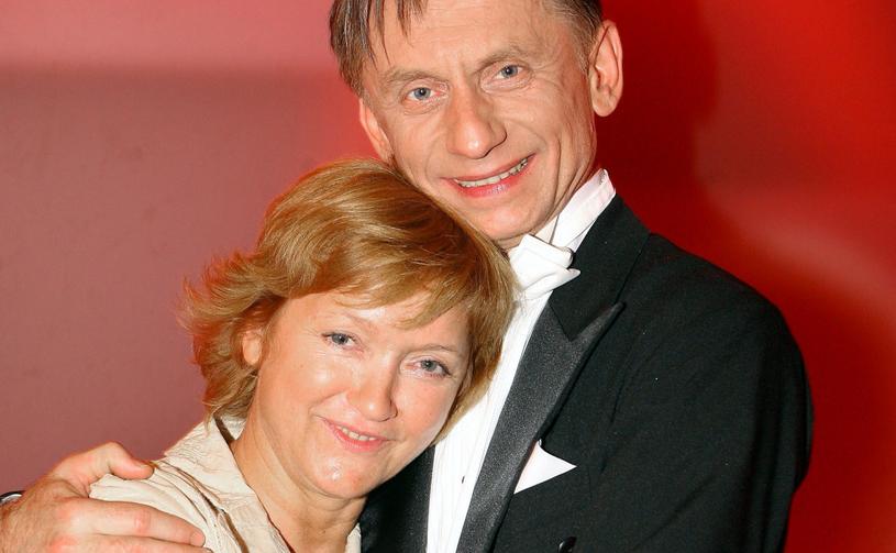 Krzysztof Tyniec z żoną, 2007 rok /Piotr Fotek/REPORTER /East News