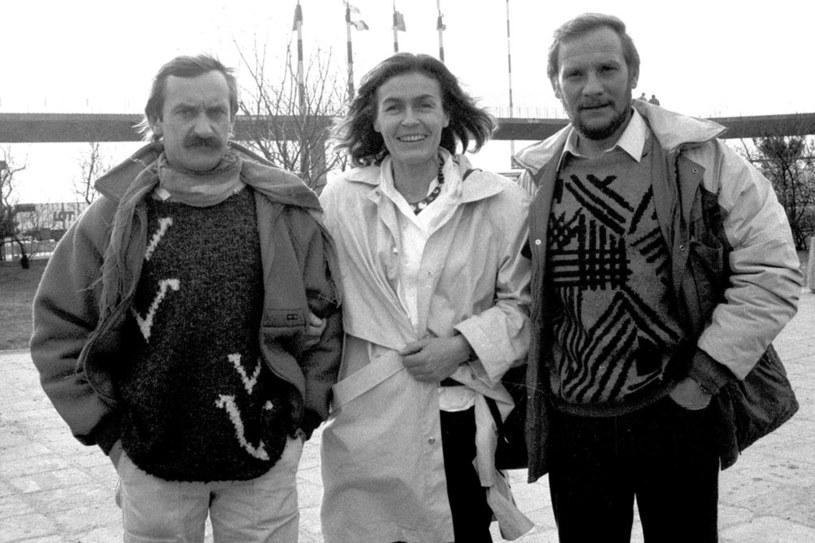 Krzysztof Wielicki, Wanda Rutkiewicz i Jerzy Kukuczka przed kolejną wyprawą /Grażyna Wójcik /East News