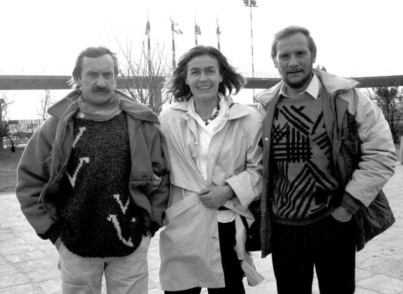 Krzysztof Wielicki, Wanda Rutkiewicz i Jerzy Kukuczka przed wyprawą /East News