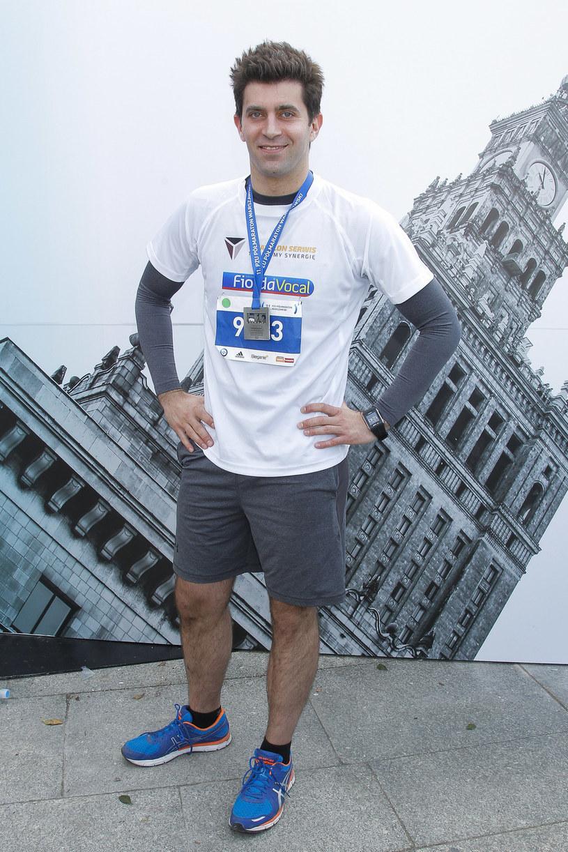 Krzysztof Wieszczek po półmaratonie warszawskim, 3 kwietnia 2016 roku /AKPA