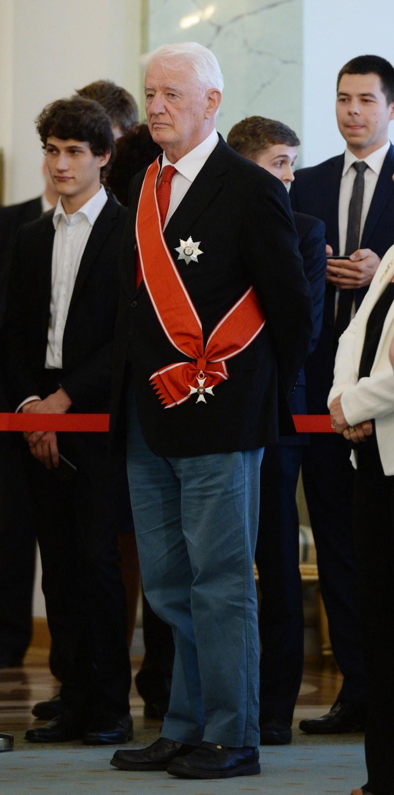 Krzysztof Wyszkowski, który otrzymał Krzyż Wielki Orderu Odrodzenia Polski /Jacek Turczyk /PAP