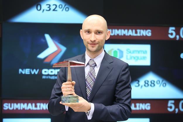 Krzysztof Zdanowski, prezes Summa Linguae z Krakowa, na debiucie na NewConnect /PAP