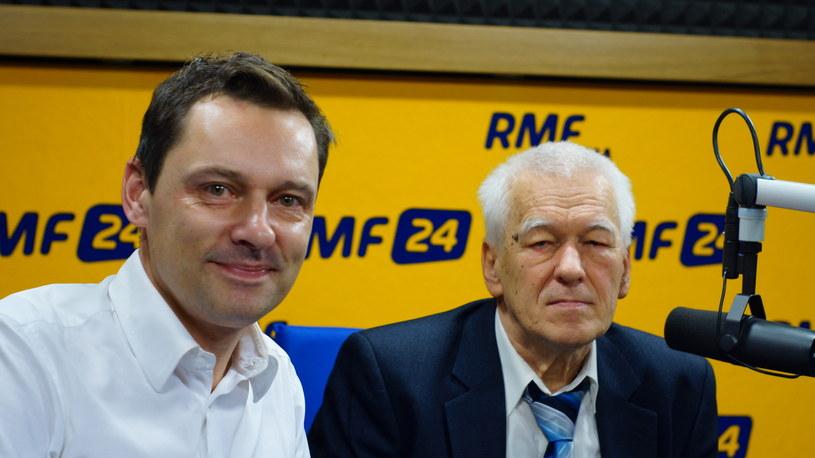 Krzysztof Ziemiec i Kornel Morawiecki /Michał Dukaczewski /RMF FM