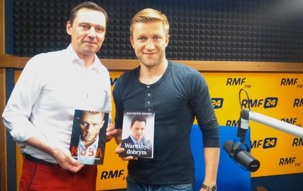 Krzysztof Ziemiec i Kuba Błaszczykowski /Magdalena Jednacz /RMF FM