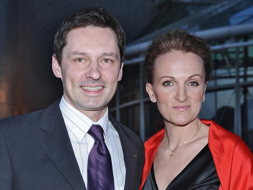 Krzysztof Ziemiec z żoną Dorotą  /Andras Szilagyi /MWMedia
