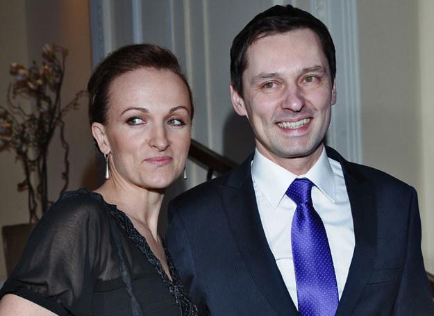 Krzysztof Ziemiec z żoną Dorotą  /fot. A. Szilagyi /MWMedia