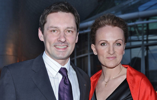 Krzysztof Ziemiec z żoną, fot.Andras Szilagyi  /MWMedia