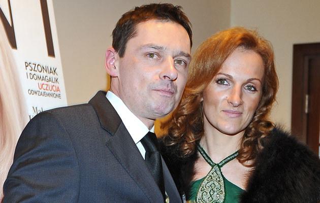 Krzysztof Ziemiec z żoną, fot. Andras Szilagyi  /MWMedia