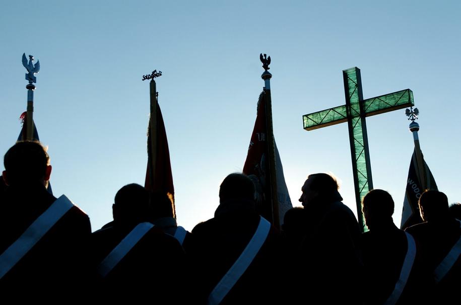 Krzyż we Włocławku /Wojciech Szabelski    /PAP