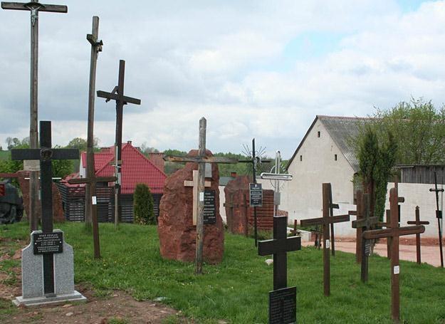 Krzyże we wsi Michniów przypominają o tragicznej historii tego miejsca /Polska Zbrojna