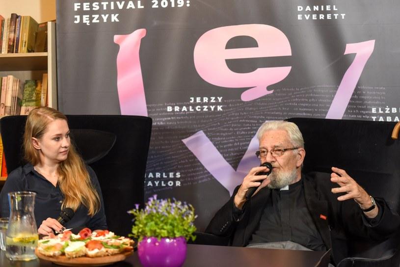 Ks. Adam Boniecki i Anna Goc, Fot. Adam Koprowski /Copernicus Festival /materiały prasowe