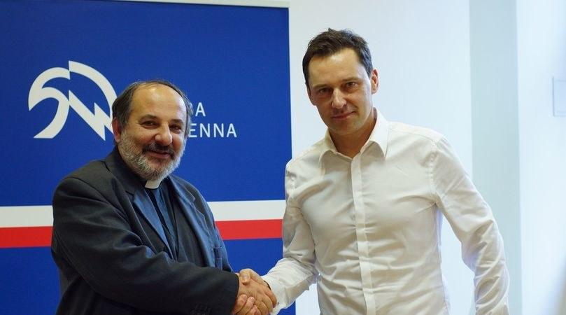 Ks. Isakowicz Zaleski i Krzysztof Ziemiec /Michał Dukaczewski /RMF FM