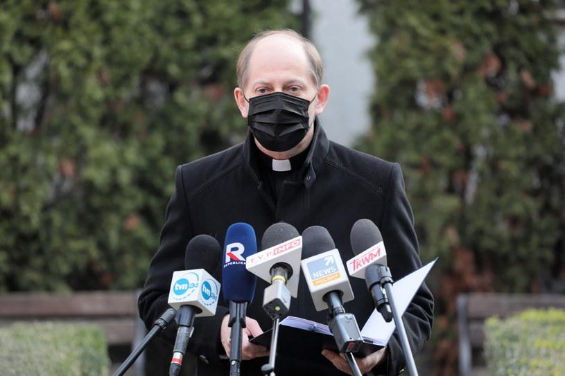 Ks. Leszek Gęsiak, rzecznik KEP /Paweł Supernak /PAP