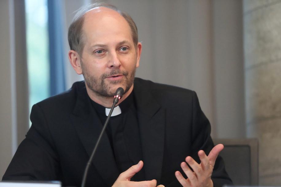 Ks. Leszek Gęsiak, rzecznik Konferencji Episkopatu Polski /Roman Zawistowski /PAP