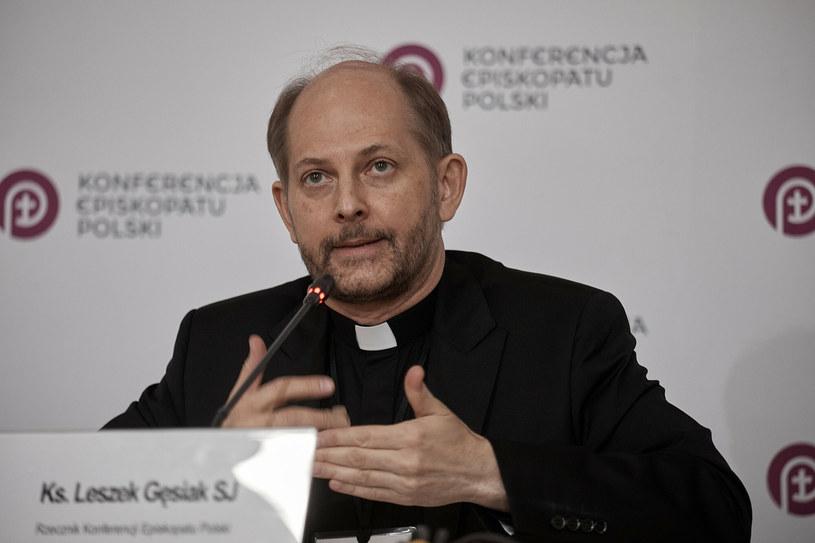 ks. Leszek Gęsiak, rzecznik Konferencji Episkopatu Polski /Julian Sojka /East News