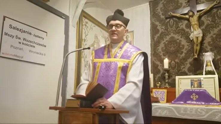 Ks. Michał Woźnicki, były salezjanin, jest skonfliktowany z pozostałymi zakonnikami /YouTube.com/W obronie Mszy Św. P-ń Wroniecka 9. Msza Trydencka /YouTube