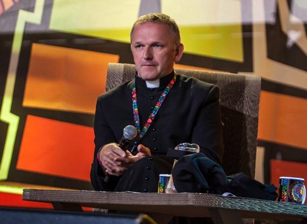 Ks. Wojciech Lemański był gościem ASP na Przystanku Woodstock - fot. Anna Migda /WOŚP