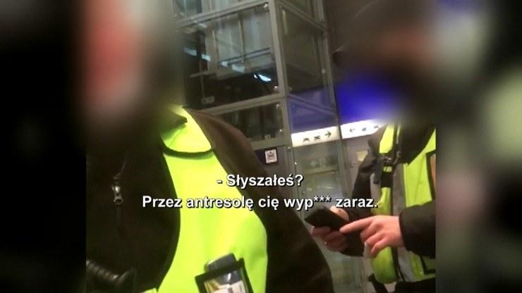 Ksenofobiczny atak na Dworcu Centralnym /kadr z programu Interwencja /