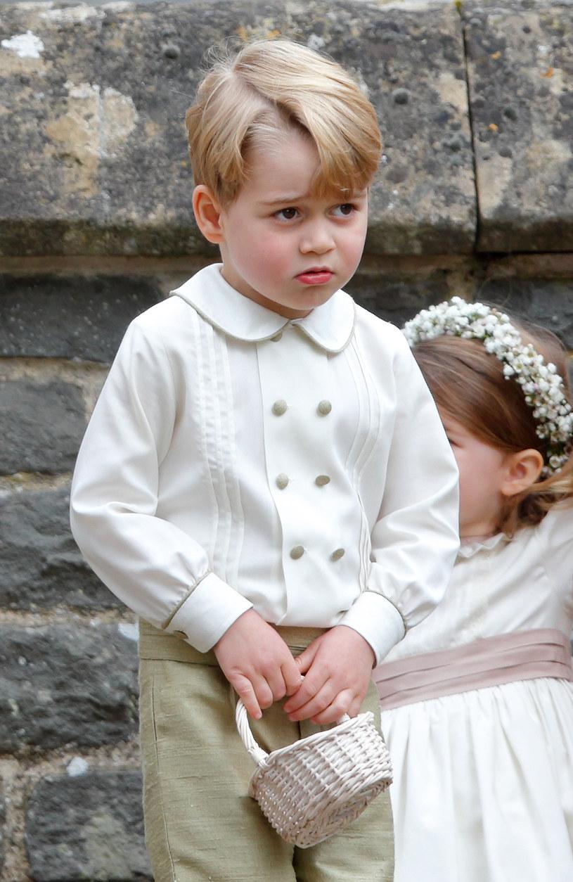 Książę George na ślubie swojej cioci, Pippy Middleton nie zachowywał się tak, jakby życzyła sobie tego księżna Kate /Max Mumby/Indigo /Getty Images