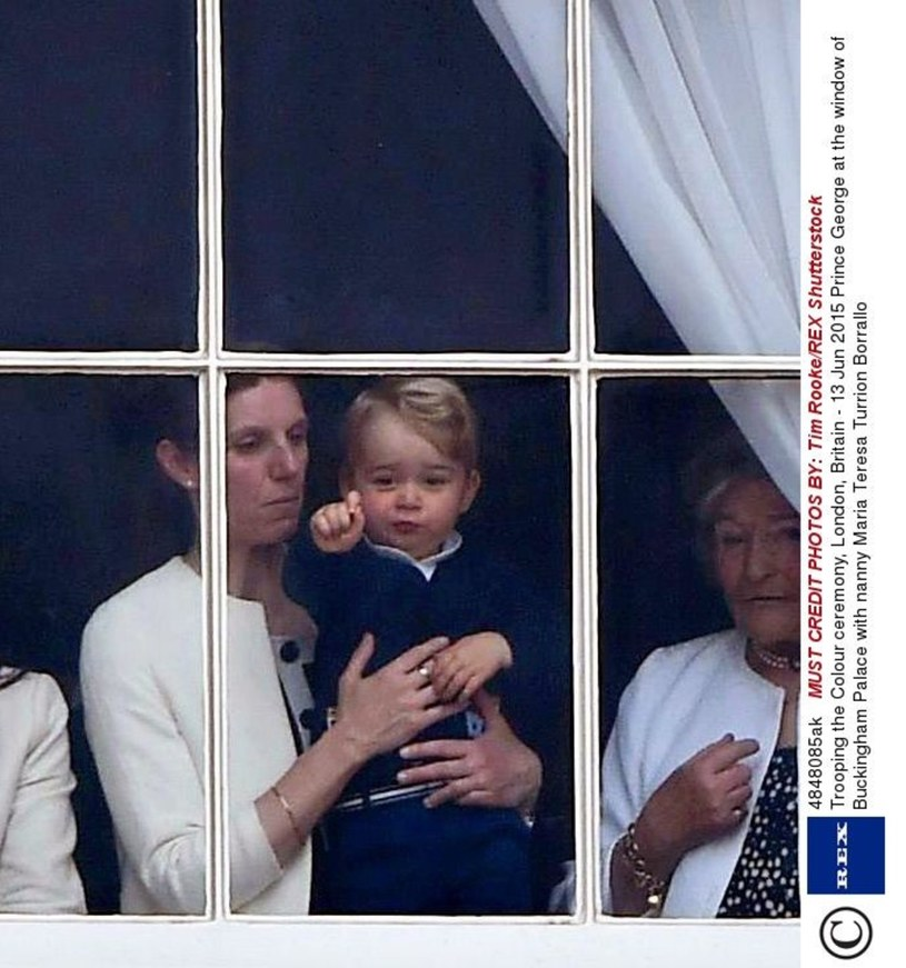 Książę George z opiekunką /Tim Rooke/REX Shutterstock /East News