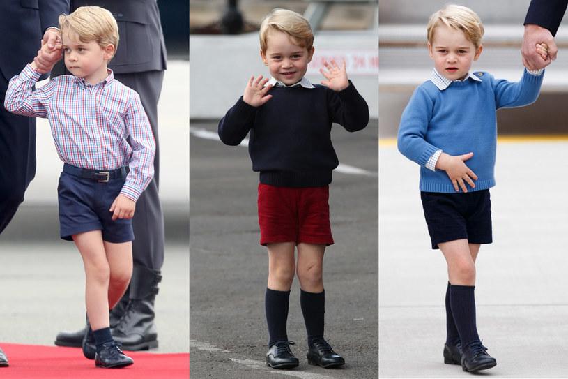 Książę George zawsze widywany jest w krótkich spodenkach /Getty Images