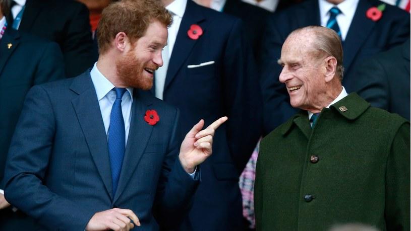 Książę Harry i jego dziadek książę Filip /Phil Walter /Getty Images