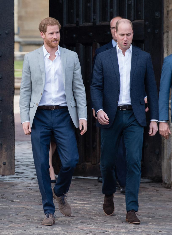 Książę Harry i książę William /Samir Hussein /Getty Images