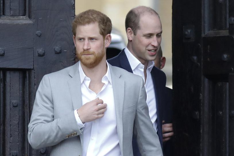Książę Harry i książę William /AFP