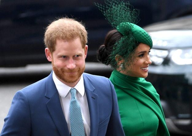Książę Harry i księżna Meghan tuż przed Megxitem, marzec 2020 / NEIL HALL /PAP/EPA