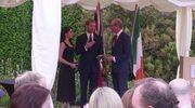 Książę Harry i Meghan Markle na przyjęciu u ambasadora