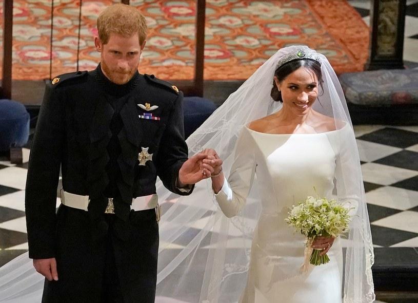 Książę Harry i Meghan Markle w dniu ślubu /AFP
