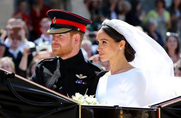 Książę Harry i Meghan Markle w dniu swojego ślubu 19 maja 2018 roku /Photoshot    /PAP/EPA