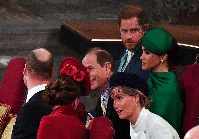 Książę Harry i Meghan Markle z Hrabiną Zofią, księciem Edwardem i księciem Williamem oraz księżną Kate /WPA Pool /Getty Images