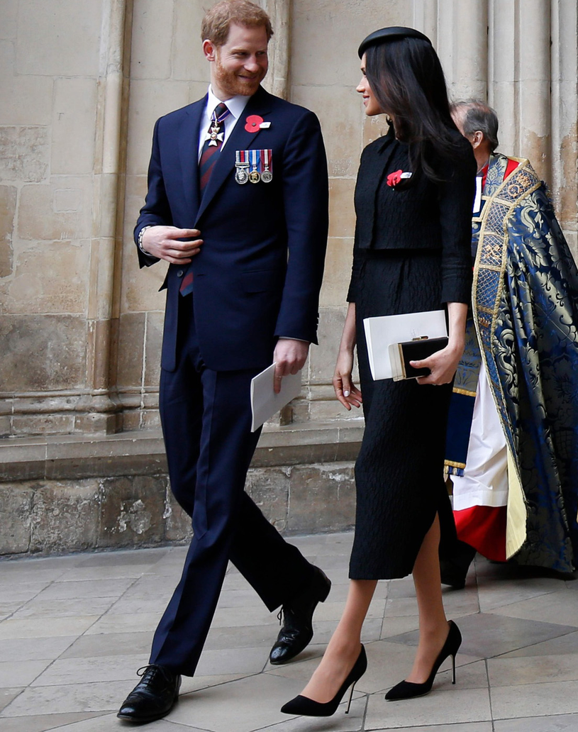 Książę Harry i Meghan Markle /ADRIAN DENNIS /East News