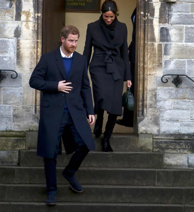 Książę Harry i Meghan Markle /GEOFF CADDICK /East News