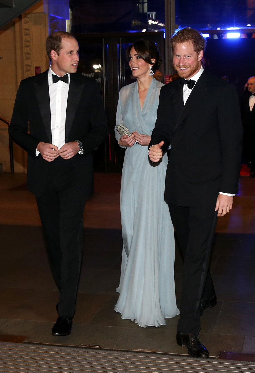 Książę Harry z Kate i Williamem /Chris Jackson /Getty Images