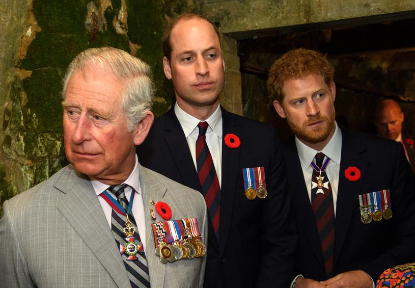 Książę Harry z księciem Williamem i księciem Harrym /Pool / Samir Hussein /Getty Images