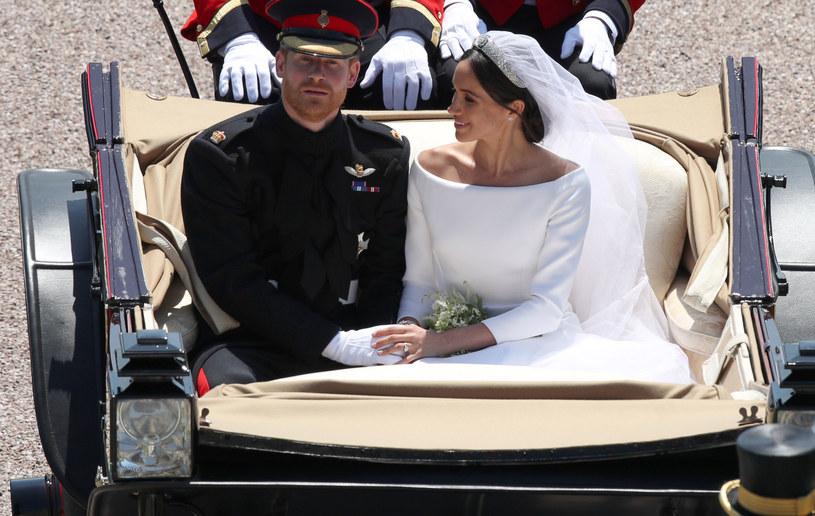Książę Harry z żoną Meghan w dniu ich ślubu /WPA Pool /Getty Images