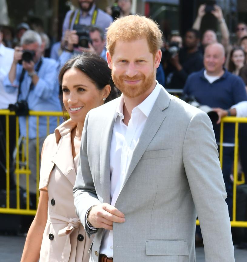 Książę Harry z żoną Meghan /East News