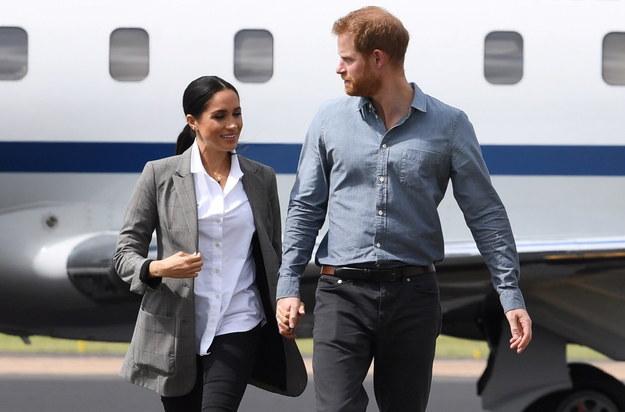 Książę Harry z żoną Meghan /DEAN LEWINS /PAP/EPA