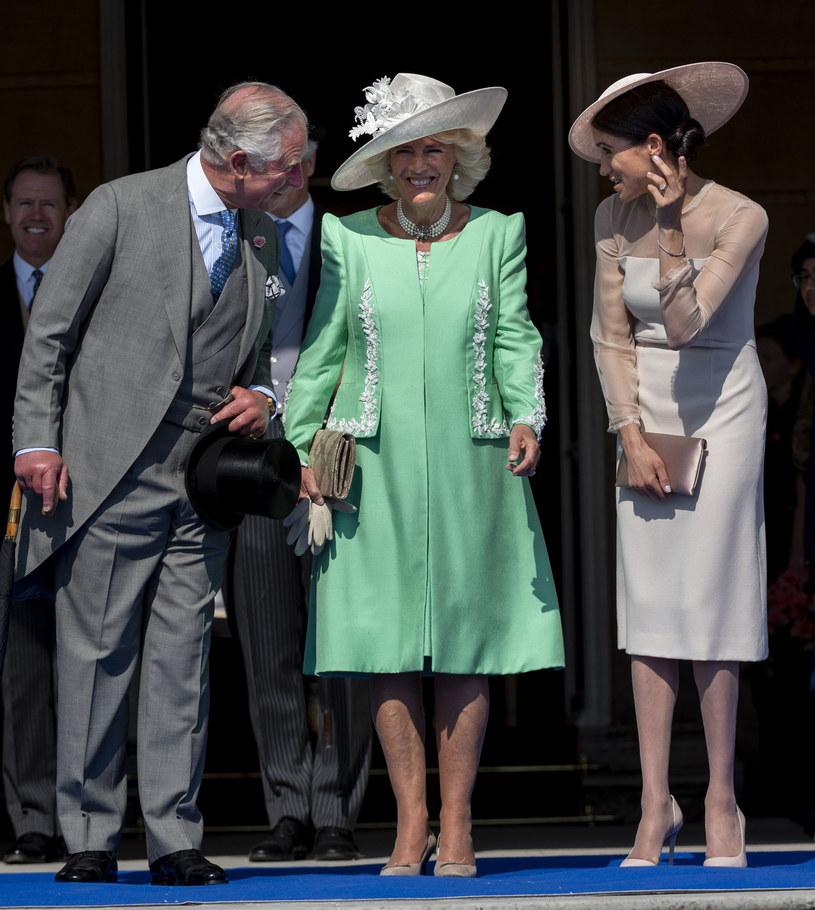 Książę Karol, Camilla, Meghan Markle /Mark Cuthbert /Getty Images