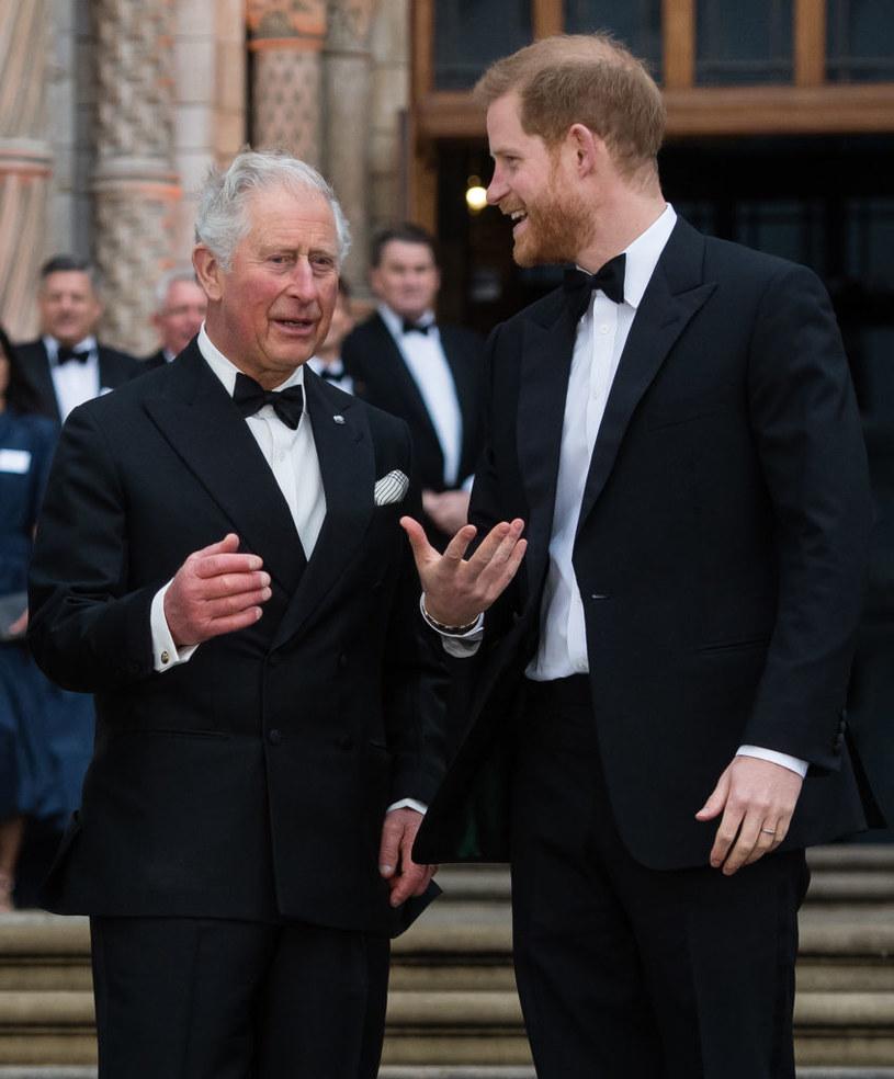 Książe Karol i książę Harry /Samir Hussein /Getty Images