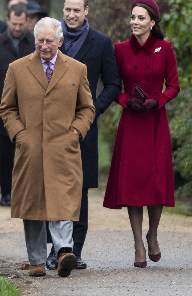 Książę Karol, książę William i księżna Kate /Mark Cuthbert /Getty Images