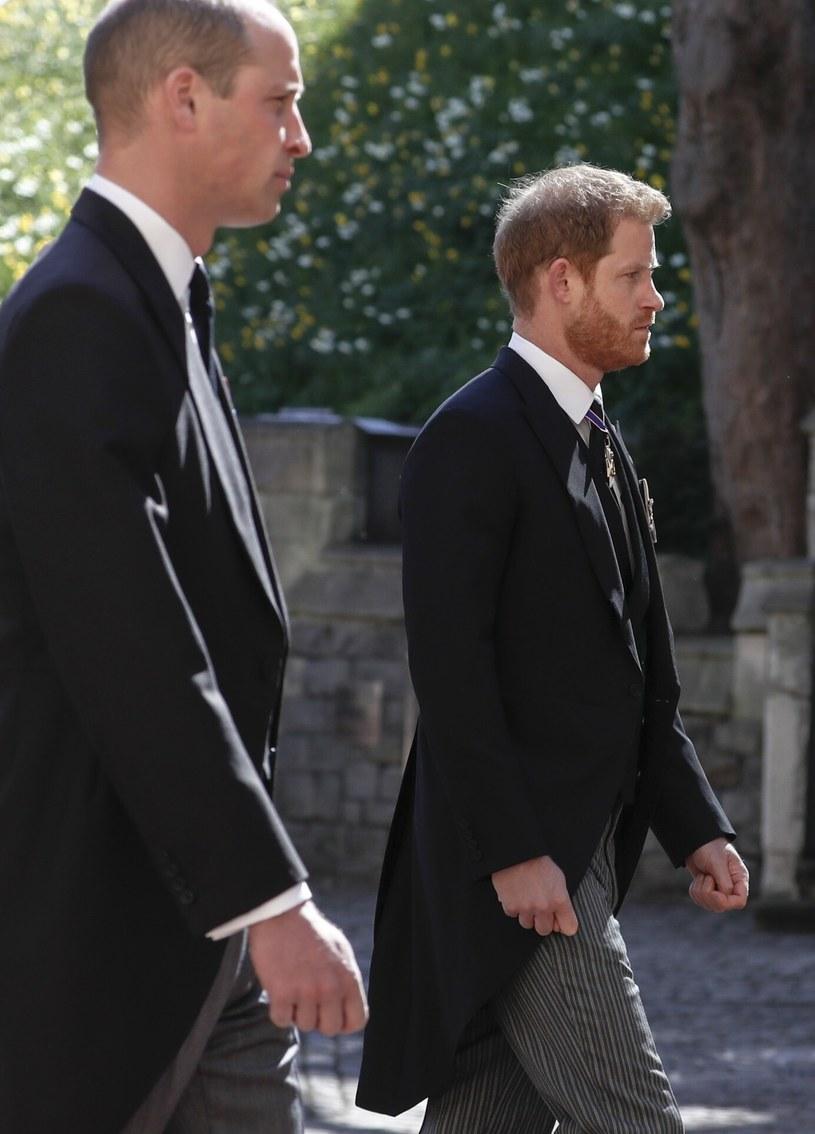 Książę William i Harry na pogrzebie księcia Filipa /Pool Photo /East News